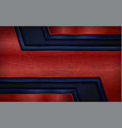 Vintage metal red and blue abstract geometry vector