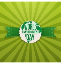 World Environment Day Earth Banner Template vector image