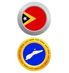 button as a symbol EAST TIMOR vector image vector image