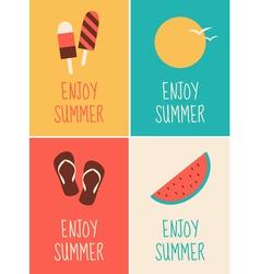 Enjoy Summer Collection vector image vector image