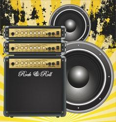 guitar bass amp vector image