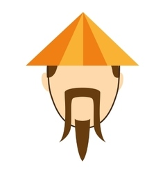 japanese culture hat icon vector image