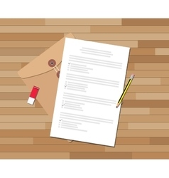 paper test document with checklist and pencil vector image vector image