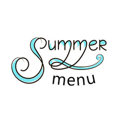 summer menu banner vector image