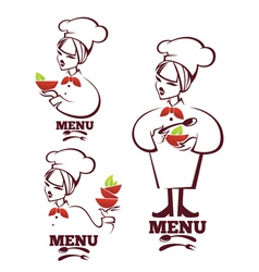 woman in the kitchen vector image