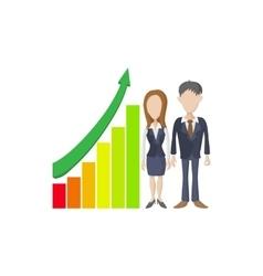 Business presentation icon cartoon style vector image vector image