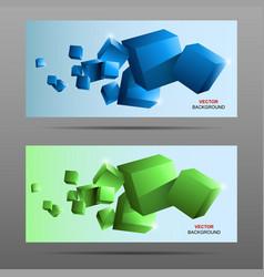 colorful cubes 3d vector image