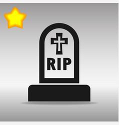 grave black icon button logo symbol concept vector image vector image