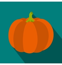 Pumpkin icon in flat style vector image