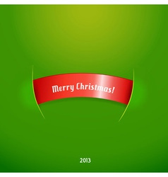 Red stripe with christmas text vector image vector image