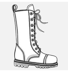 Shoe hand-drawn in sketch style vector image