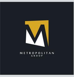 unusual m logo vector image