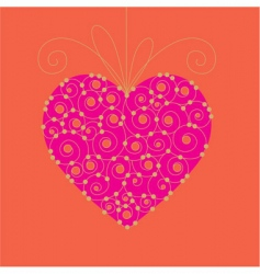 valentine day card 03 vector image