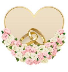 Wedding Card with Rings vector image vector image