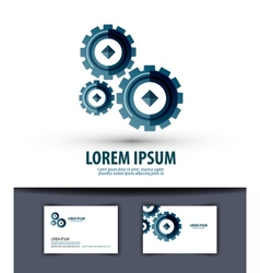 Business logo design template Gear or work icon vector image vector image