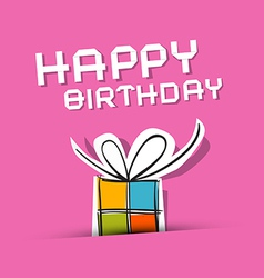 Happy Birthday to You Theme on Pink Background vector image vector image