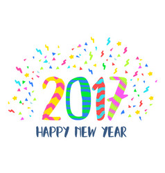 happy new year 2017 colorful party decoration art vector image vector image
