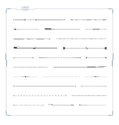 lines set for hud ui abstract elements vector image vector image