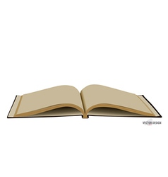 Opened book with blank pages vector image