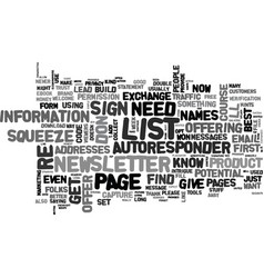 a good squeeze is hard to find text word cloud vector image vector image