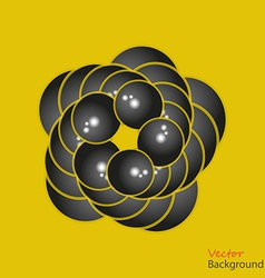 Abstract background 3D fractalon the yellow vector image vector image