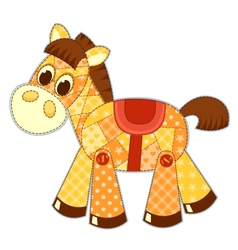 Application horse isolated vector image vector image
