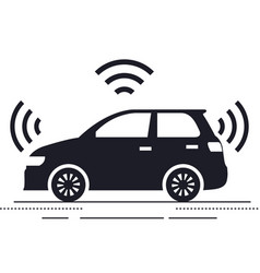 autonomous car isolated icon vector image