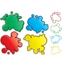 cartoon spatters vector image vector image