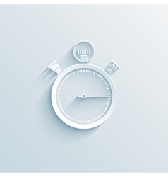 chronometer paper icon vector image vector image