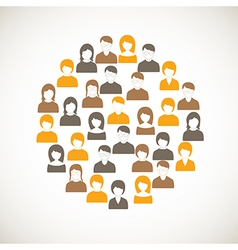 Colorful people icon vector image vector image