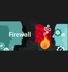 firewall computer security protection from safety vector image vector image