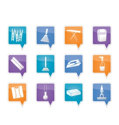 home objects and tools icons vector image vector image