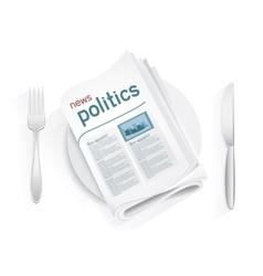 news politics tablewares vector image vector image