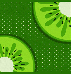 summer background with kiwi vector image