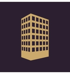 The building icon Apartment and skyscraper vector image