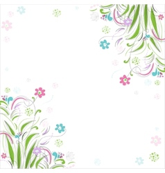 Vintage floral background Beautiful frame with vector image vector image
