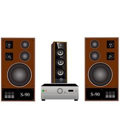 Amplifier and speakers vector