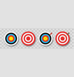 Archery target with arrows set targets vector