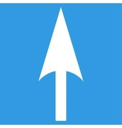 Arrow Axis Y flat white color icon vector image