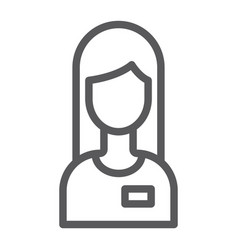 assistance line icon service and help operator vector image