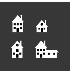 assorted building type icons image vector image