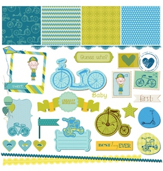 Baby Bicycle Set vector image