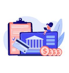 Bank account concept vector