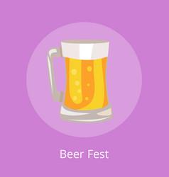 Beer fest icon light beverage mug vector
