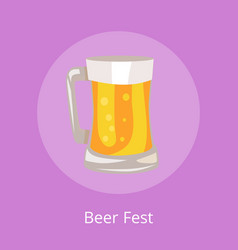 Beer fest icon of light beverage mug vector