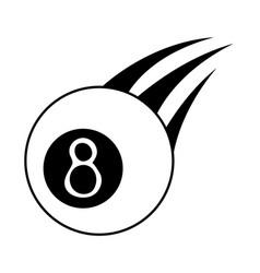 Billiard eight ball sport icon image vector