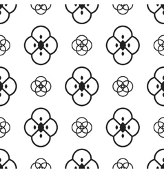 Black and white ethnic geometric pattern vector