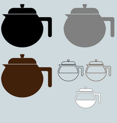 Black coffee maker or container different vector