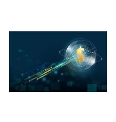Business big data deep learning server digital vector