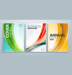 Business brochure cover design templates vector
